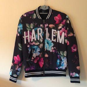 Forever 21 Floral Harlem Bomber Jacket